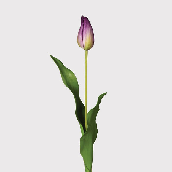 Faux Purple Tulip Dutch Bud