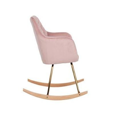 velvet rocking chair gold legs /pink
