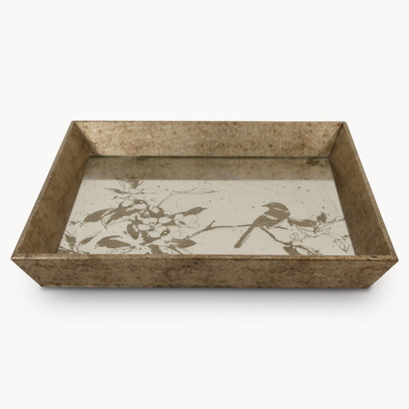 Decorative Tray With Bird Pattern