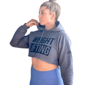 Crop Hoodie - Barbell Behaviour