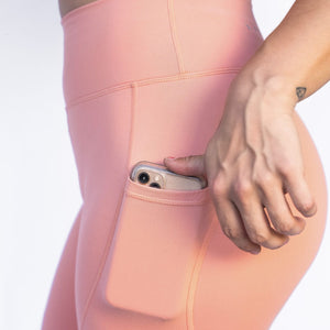 Peach pink Pocket legging barbell behaviour