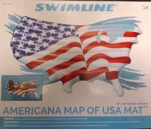 Americana Map of USA Mat