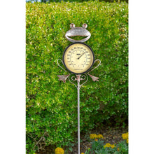 Load image into Gallery viewer, Frog Thermometer Garden Stake