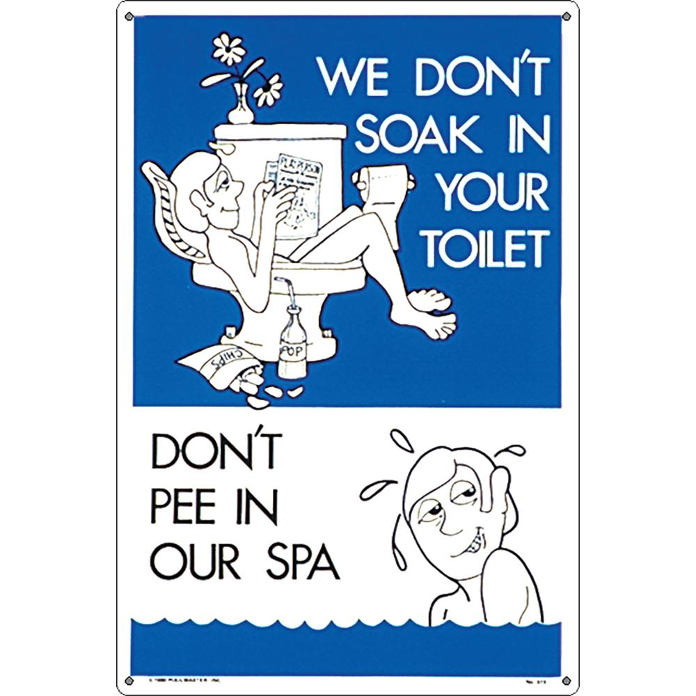 Sign - No Peeing In Spa!