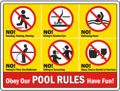 Sign - Pool Rules!