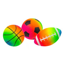 Load image into Gallery viewer, Rainbow Game Balls - 3 Pack
