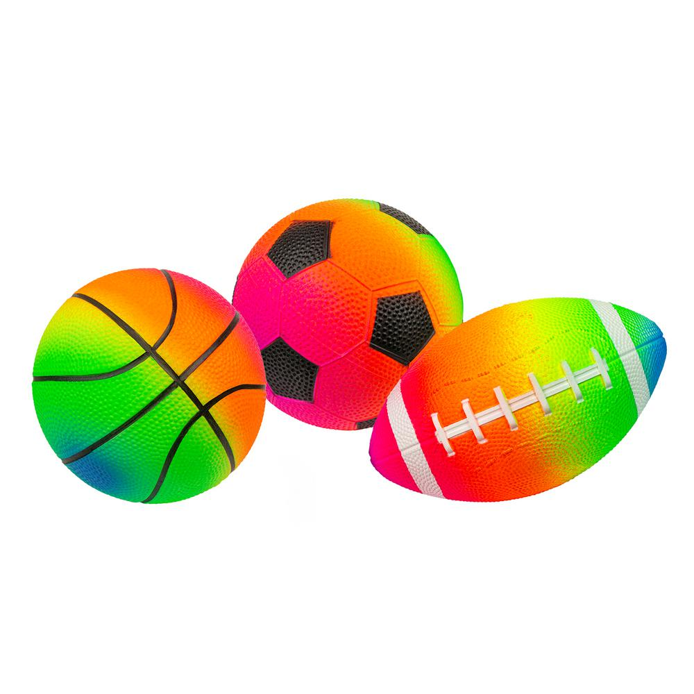 Rainbow Game Balls - 3 Pack