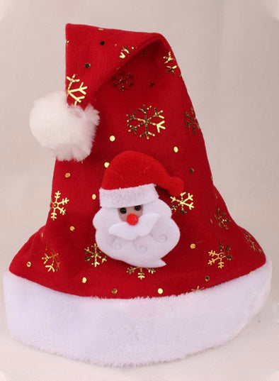 Red Women's Hats Christmas Antlers Santa Hat LC02307-3