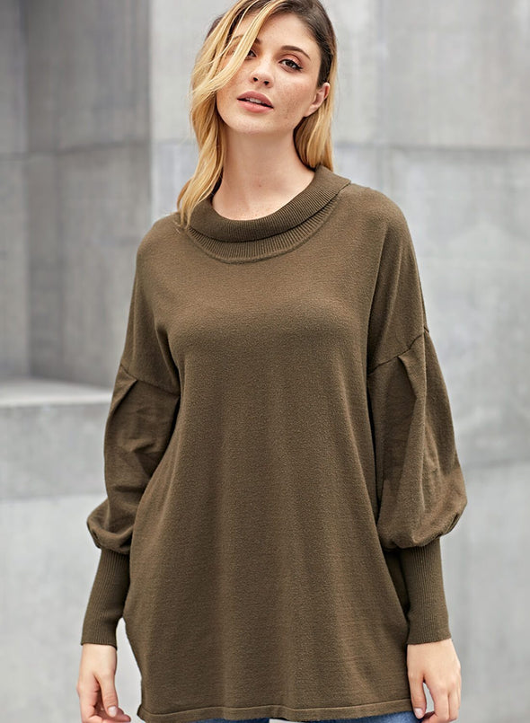 Slope Side Snuggles Tunic Sweater(LC27857-9-1)