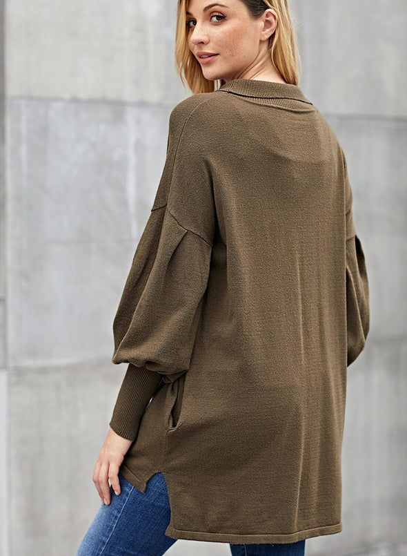 Slope Side Snuggles Tunic Sweater(LC27857-9-2)