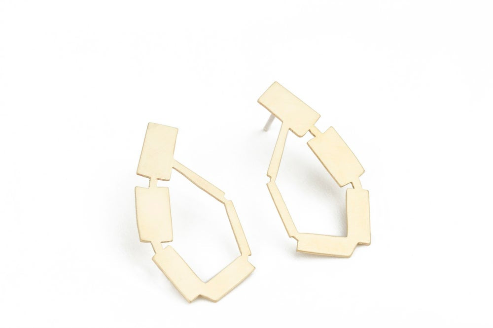 Golden Arched Earrings