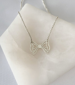 Better with a Bow Necklace