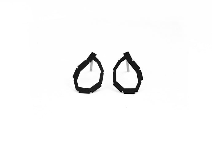 Mini Black Loop Studs