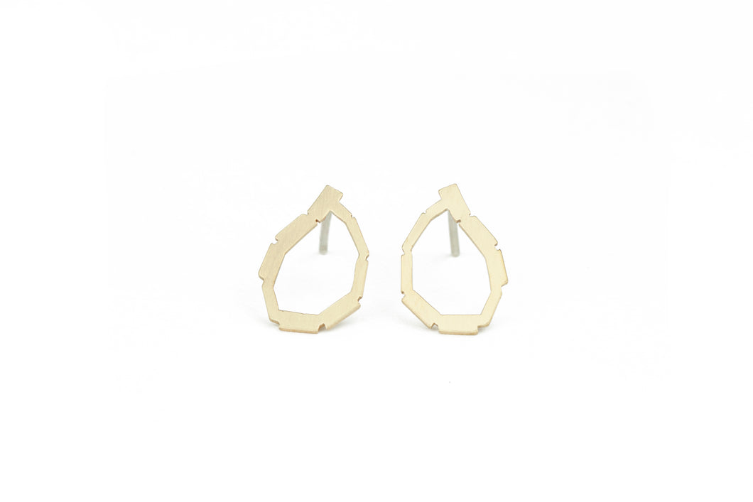 Mini Golden Loop Studs