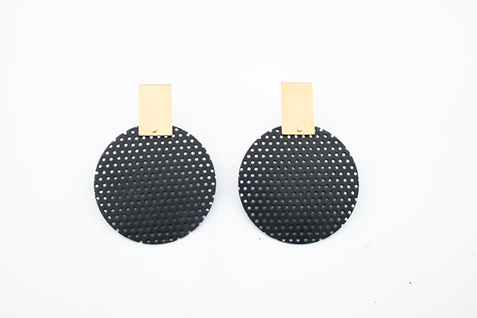 Brick and Perf Earrings