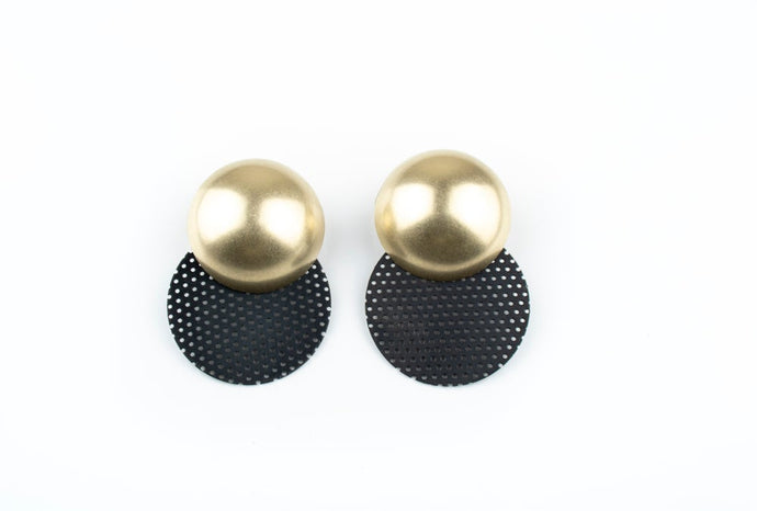 Domed Dot Earrings
