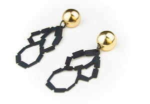 Domed Looping Earrings