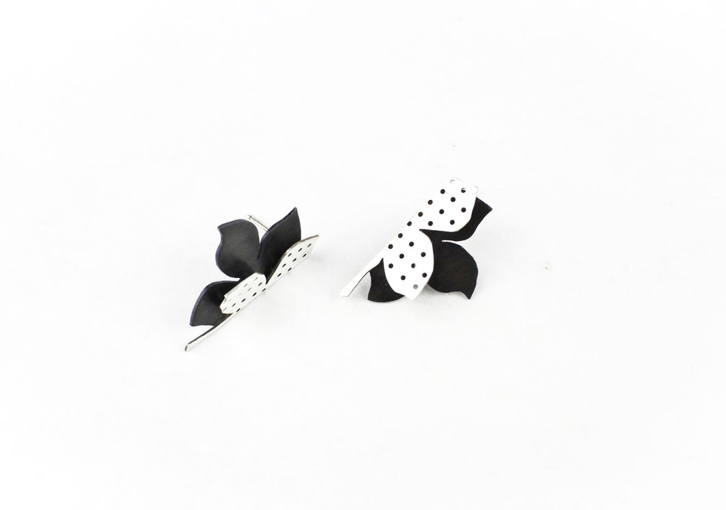 Folded petal earrings