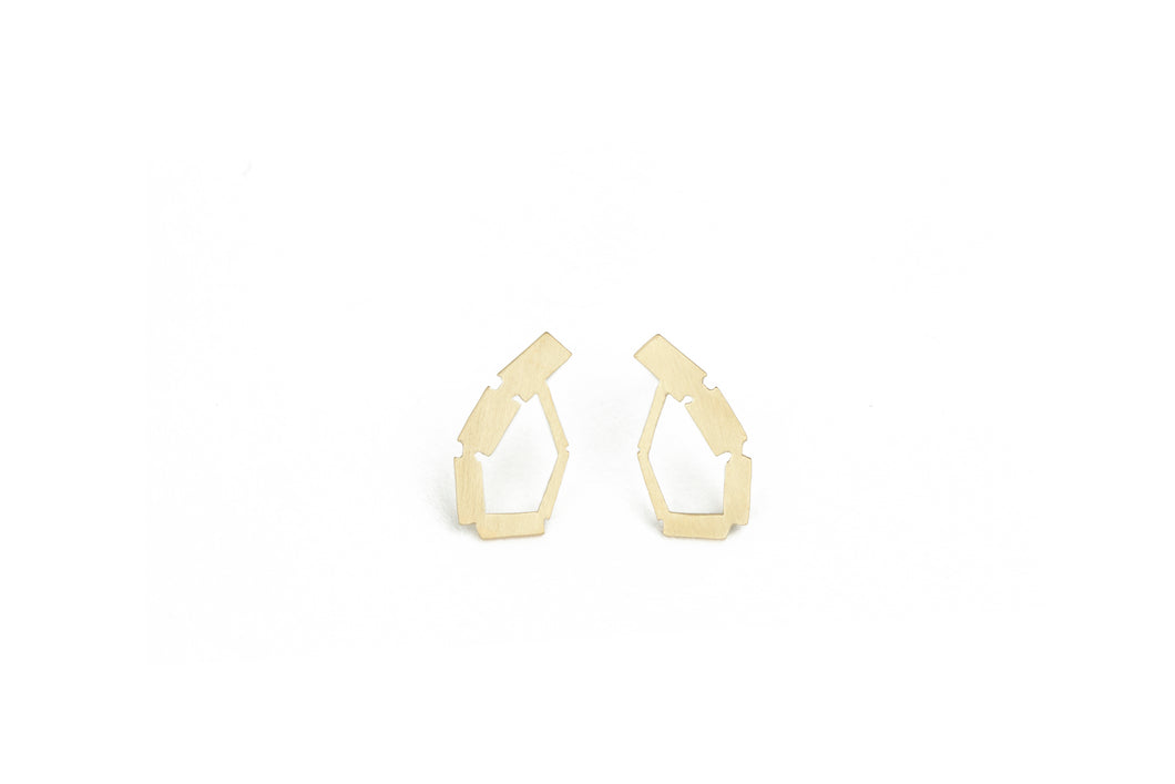 Mini Golden Arched Studs
