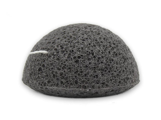 Charcoal Konjac Sponge for acne-prone skin