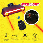 Luz láser recargable para bicicleta + power bank de regalo