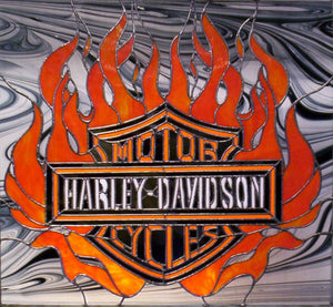The Harley-Davidson pieces...