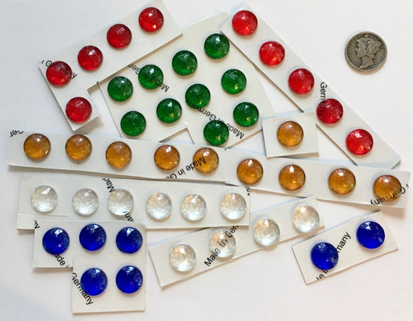 11mm Faceted Glass Jewels for Stained Glass and Lead