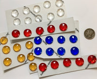 13mm Faceted Glass Jewels for Stained Glass and Lead