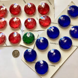 30mm Double Faceted Glass Jewels for Stained Glass and Lead - Four colors available!