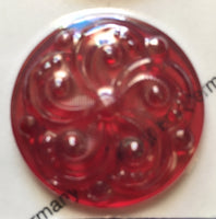 35mm Swirl Textured Glass Jewels for Stained Glass - (13) Colors Available!!
