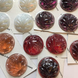Large 40mm Cut Rose Glass Jewels for Stained Glass - Six (6) colors available!