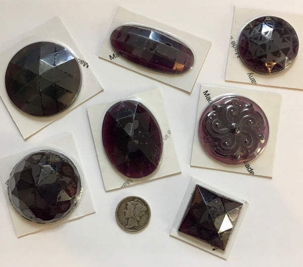 Faceted and Specialty Stained Glass Jewel Assortment - Violet Grape Purple!