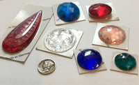 Faceted and Specialty Stained Glass Jewel Assortment - A Rainbow of Colors and Sizes!!