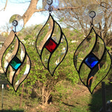 Sparkly Jewel and Bevel Cluster Stained Glass Kit with 25mm Faceted Glass Jewel - 9 colors available!