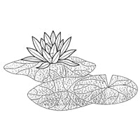 Water Lily Stained Glass Bevel Cluster - 16 pcs - Beautiful! 💚