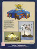 OOP 1992 ' Elegant Lamps 3' Stained Glass Pattern Book - Awesome lamp shade patterns!