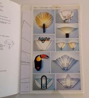 OOP 1988 GlasDesign 'Wall Lamps 1' Stained Glass Patterns Sconces Floral Abstract