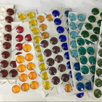 20mm Faceted Glass Jewels for Stained Glass and Lead - Available in 16 colors!!