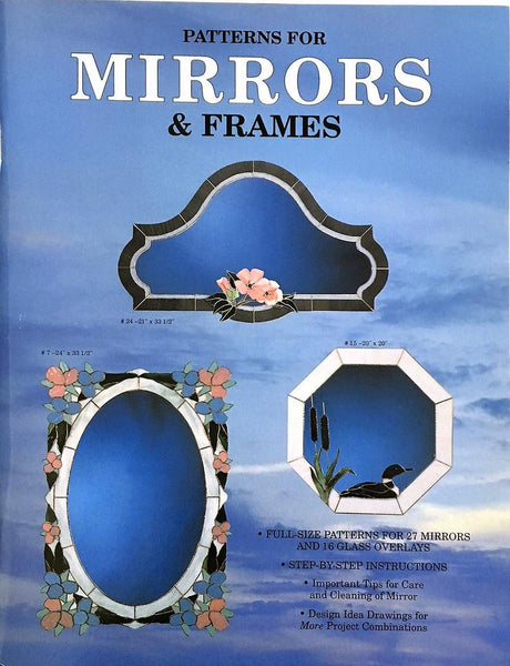 Vintage 1998 'Mirrors & Frames' Full-Size Stained Glass Pattern Book NOS - Great patterns!