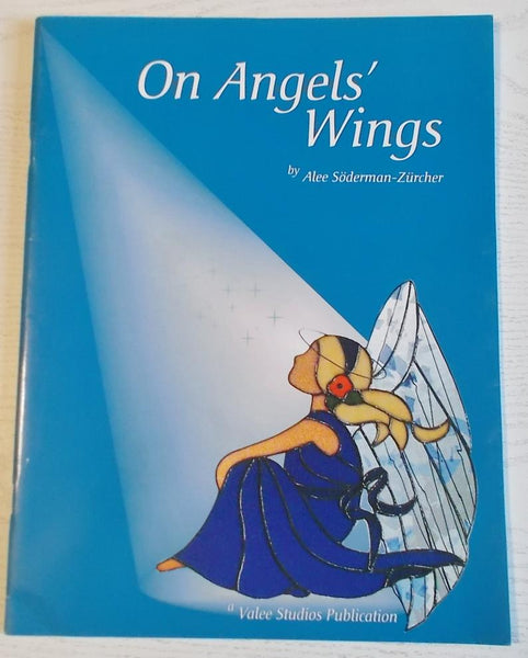 2001 On Angels' Wings Stained Glass Pattern Book OOP Angelic Angels - Awesome!