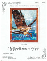 "OOP ""Sea Hawk"" Full Size 1985 Stained Glass Pattern - Alee Soderman"