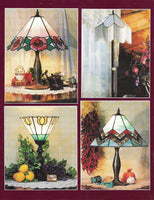1994 Simply Lamps Stained Glass Pattern Book - OOP Awesome full-size patterns!!
