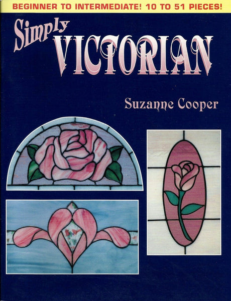 1991 Simply Victorian Stained Glass Pattern Book - NOS OOP Wonderful full-size patterns!!