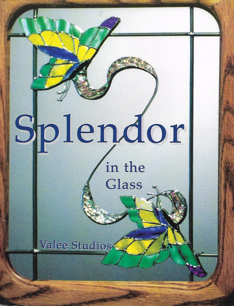 1995 'Splendor in the Glass' Stained Glass Pattern Book OOP Signed Alee Soderman
