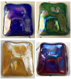 Large 60x55mm Iridescent Iridized Glass Turtleback Jewel for Stained Glass - Available in 4 Colors!