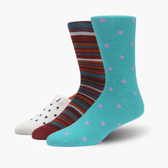 One pair of no-show socks, bamboo socks, and merino wool socks from the Swanky Socks Mother's Day Everyday Pack