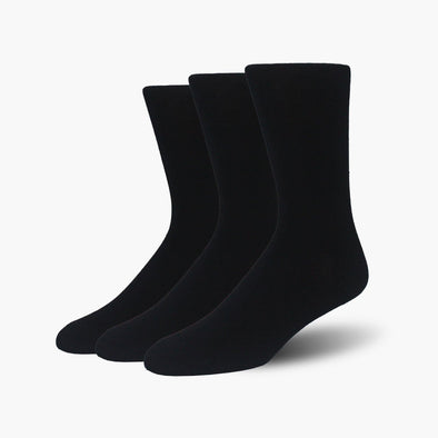 Black Bamboo Crew Length Swanky Socks 3 Pack - SwankySocks
