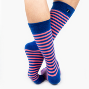 Single Stripe Combed Cotton Crew Length Swanky Socks 3 Pack