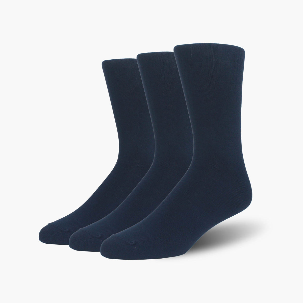 Navy Bamboo Crew Length Swanky Socks 3 Pack
