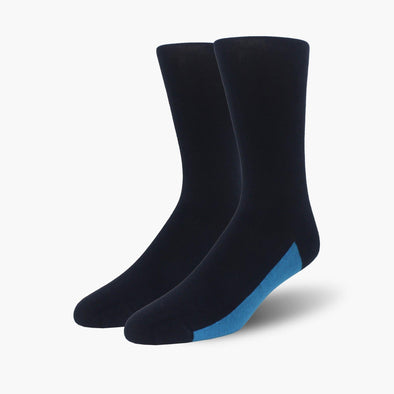 Navy Blue Organic Cotton Crew Length Swanky Socks